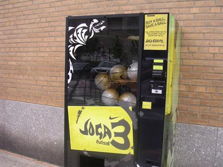 Soccer Ball Vending Machine