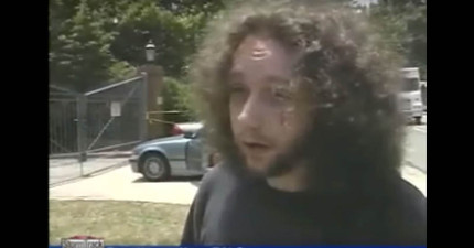 他在受訪時聽到「警察找到失蹤屍體」後的1:28秒的反應,竟讓警察發現他就是兇手!