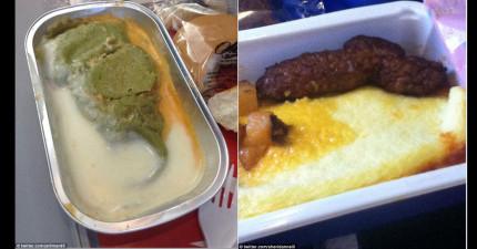 12個網友上傳他們見過的最讓人想嘔吐的飛機餐,看過還我才了解為什麼飛機上有嘔吐袋!