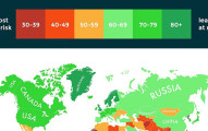 這就是科學家統計出「最能活過全球暖化的國家」的殘酷地圖。