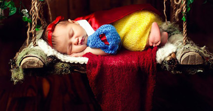 29張「讓不生小孩的人都想生一個」的超萌創意嬰兒照。