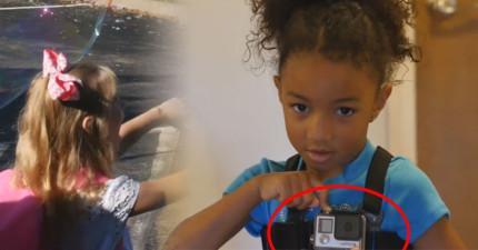 這個小女生戴上一台GoPro攝影機去上第一天的幼稚園,這個畫面會讓你心中的情緒一次湧出來!