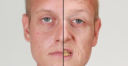他們替吸菸者化妝畫出「抽煙幾年後的模樣」,看完就說要完全戒煙了!