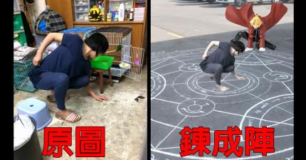 網友拍下媽媽讓鸚鵡回籠的姿勢,瞬間造成了「帥度無上限」網友爆笑大修圖。