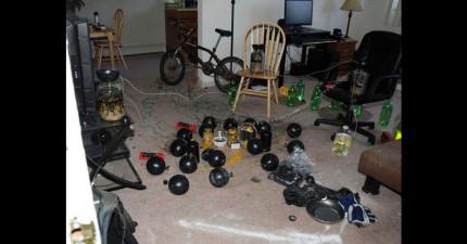 他們進入到歷史上其中最恐怖殺人魔的房間了,發現到一個有16個保齡球的殺人陷阱!