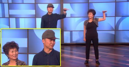 一開始看這對母子在艾倫的秀上「跳機械舞」覺得媽媽只是配角,結果發現到我大錯特錯!