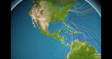 想看到你傳的簡訊怎麼環遊世界嗎?一次看完全地球88萬公里長海底網路電纜的精采路線圖!