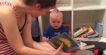 這位「小小書蟲」真的太愛聽故事了,當故事「劇終」時他就會整個崩潰!