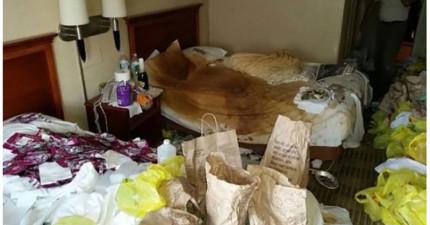 旅館員工分享這些他們看過被住客糟蹋得最骯髒的旅館房間。#5讓我真的想要嘔吐了...!