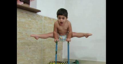 這個2歲小男孩的超誇張體操功力會讓你的腦袋負荷不了爆掉!