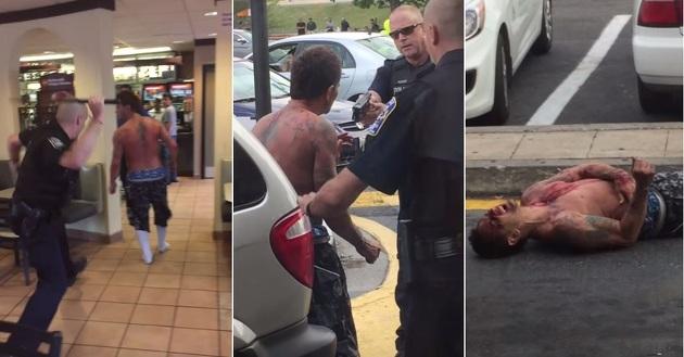 這個男子吸毒「HIGH到變成喪屍」,警方連胡椒噴霧電擊警棍都用上了,但還是阻止不了他!