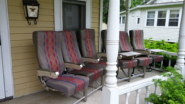 Went To Visit My Son In College. This Is His Porch Furniture