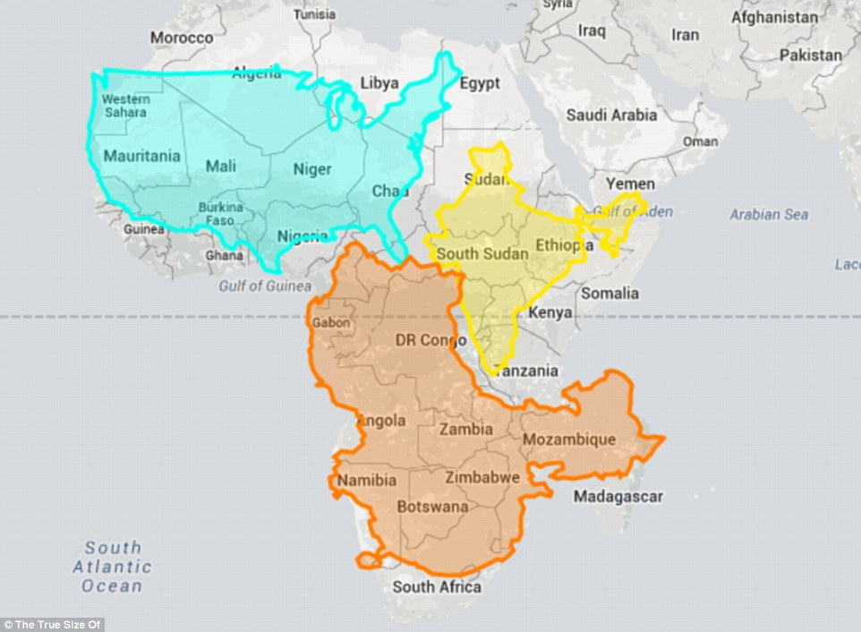 我們一直所看到的世界地圖的國家大小原來錯得離譜。台灣其實大很多!