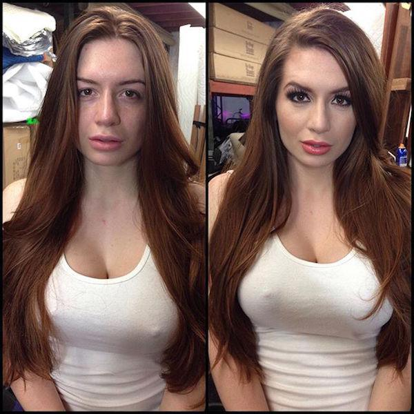 model playboy without makeup 41 Playboy models, adult stars and actresses get the magic touch (48 Photos)