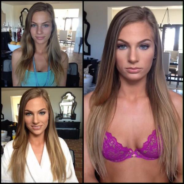 model playboy without makeup 14 Playboy models, adult stars and actresses get the magic touch (48 Photos)