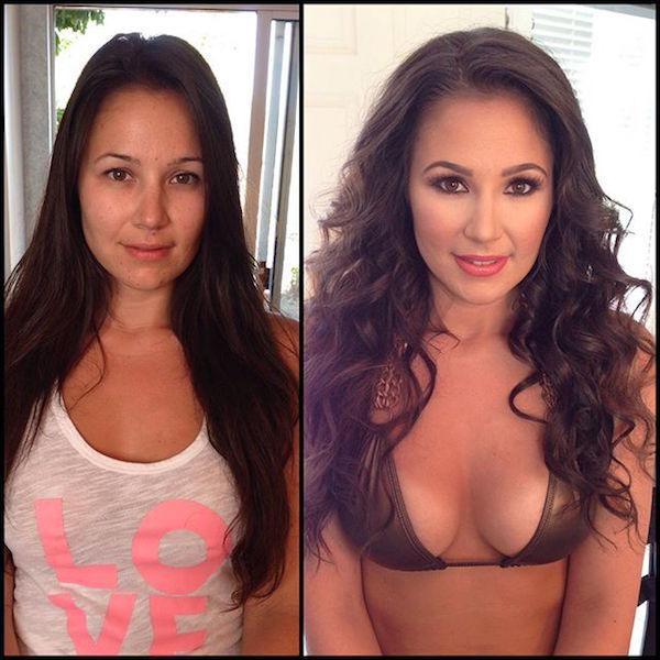 model playboy without makeup 22 Playboy models, adult stars and actresses get the magic touch (48 Photos)
