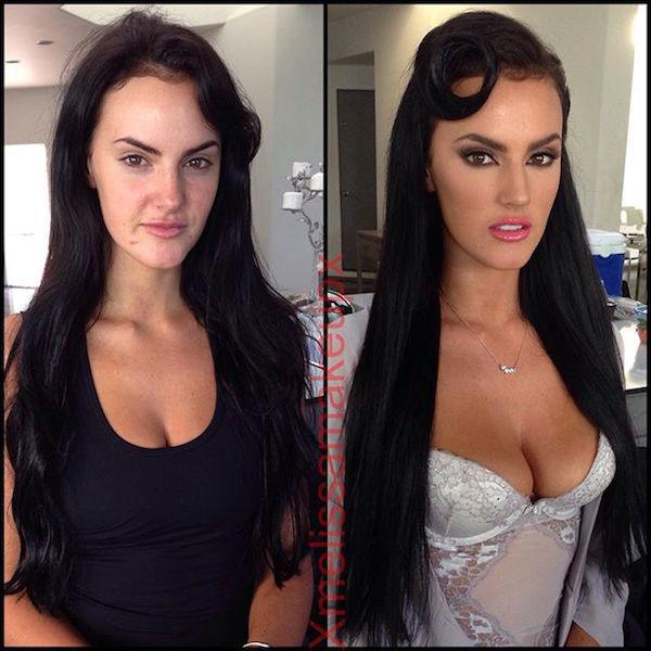 model playboy without makeup 50 Playboy models, adult stars and actresses get the magic touch (48 Photos)