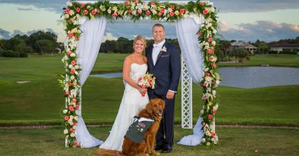 這位退役軍人的伴郎居然是一隻狗,但聽到他們的故事後我才知道非他不可!