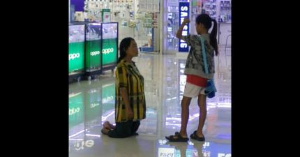 在知道這張「身障媽媽跪下求女兒」的照片背後的故事後,很多網友都大嘆:「我們的下一代沒救了!」