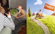 當這名攝影師的太太懷孕時,他把太太的身體變成了全世界最美妙的旅遊勝地!