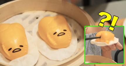 只要將筷子插到最新的蛋黃哥流沙包裡頭,接下來的超噁畫面會讓你完全笑吐!