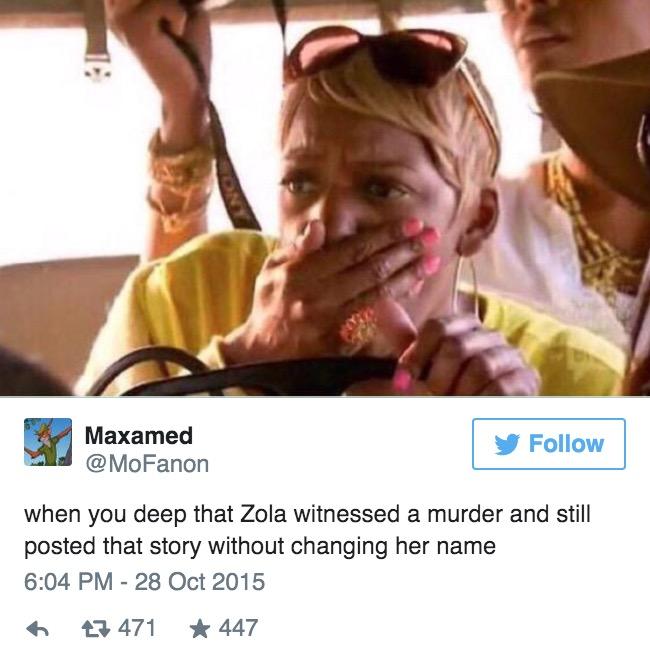 這個女生目睹兇殺案後把事發經過PO在推特上,劇情扯到網友都說該拍成HBO影集了!