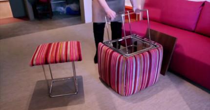 她的家乍看又小又擁擠,但這其實是「所有家具都可以變形」的智慧大空間豪宅!