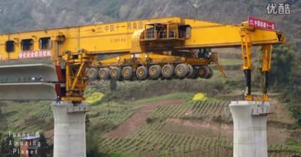 從橋上駛來的這台就是最強「中國速度」戰艦,它超突破的建造速度根本要征服世界了!