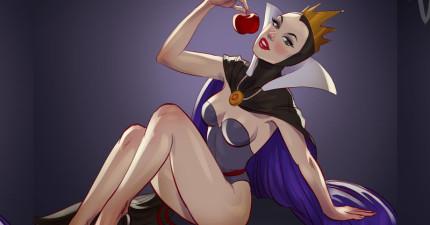 當這些「迪士尼女魔頭」全都變成超性感海報女郎後,我完全不相信她們會對公主們做壞事啊!