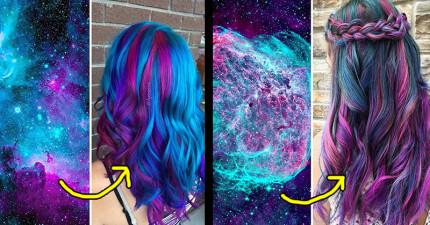 10款美到連外星人都會問妳「頭髮在哪邊染」的超夢幻銀河系髮色!