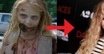 還記得這名在2010年陰屍路影集裡第一個出現的喪屍小女孩嗎?她現在已經變得超正了呢!