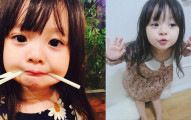 這個才3歲的超萌小蘿莉已經征服了20萬名網友。看到她媽媽時才知道基因有多強!