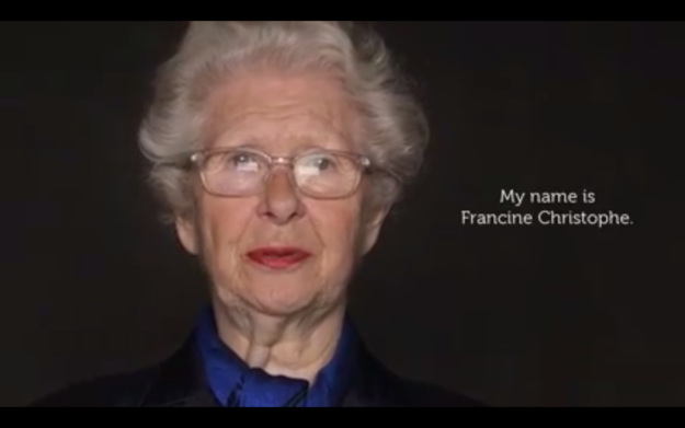 Francine Christophe is 83 years old.
