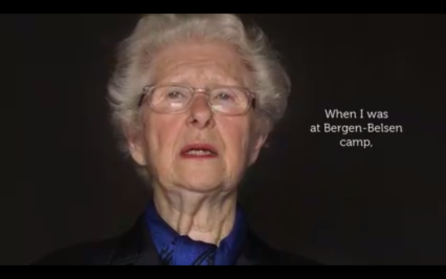 In the film, she tells the story of her deportation to the Bergen-Belsen concentration camp in northern Germany and an incredible story that came from her time there.