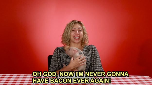 Claudia fell in love, and swore off bacon.