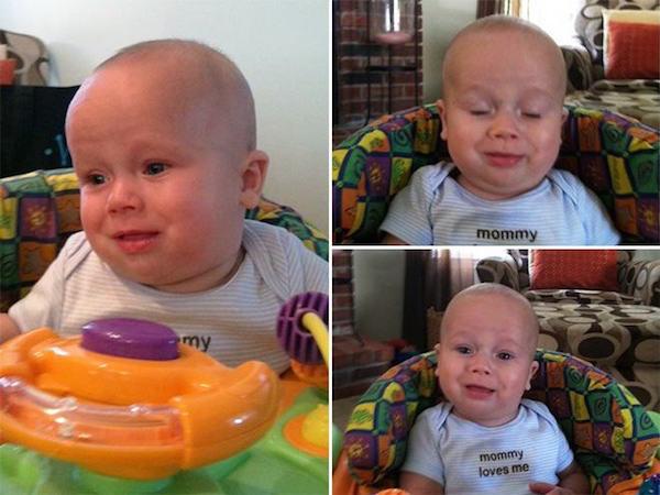 15個「忍超久終於便便出來的」表情過度豐富的超爽快寶寶。