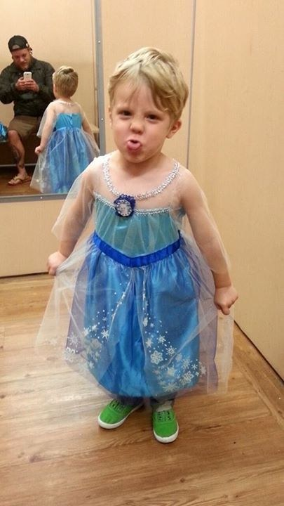 Caiden only wants to be one character this year: Elsa from Frozen.