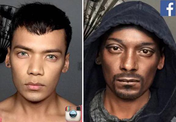當他化完妝後,你會分不清楚到底誰是本尊!Snoop Dogg看了也超滿意!