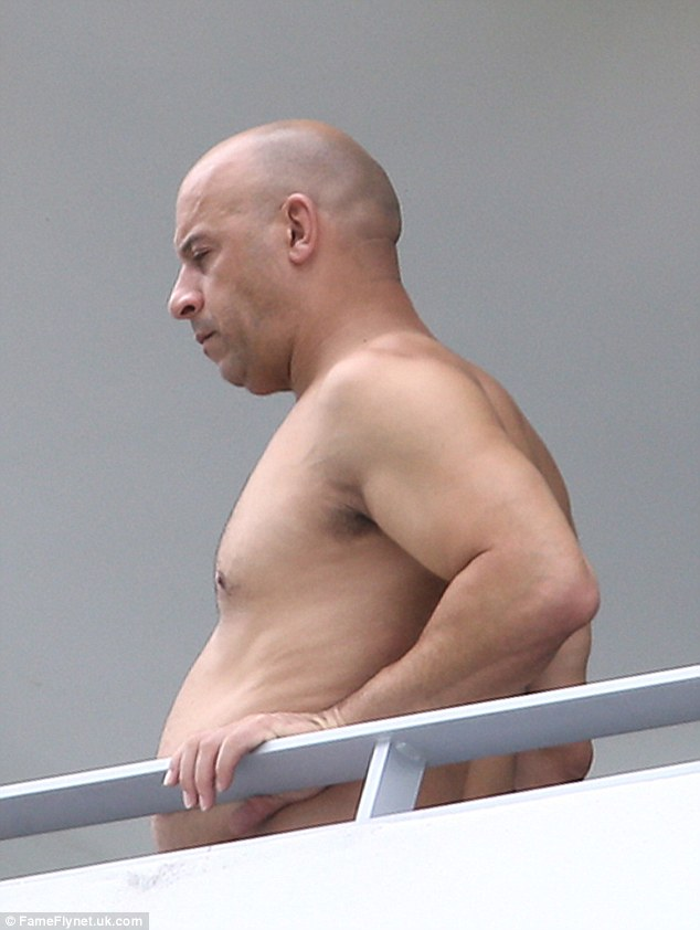 Curious Vin: Wearing only shorts, Vin looked to have just woken up from a deep sleep as he surveyed his surroundings