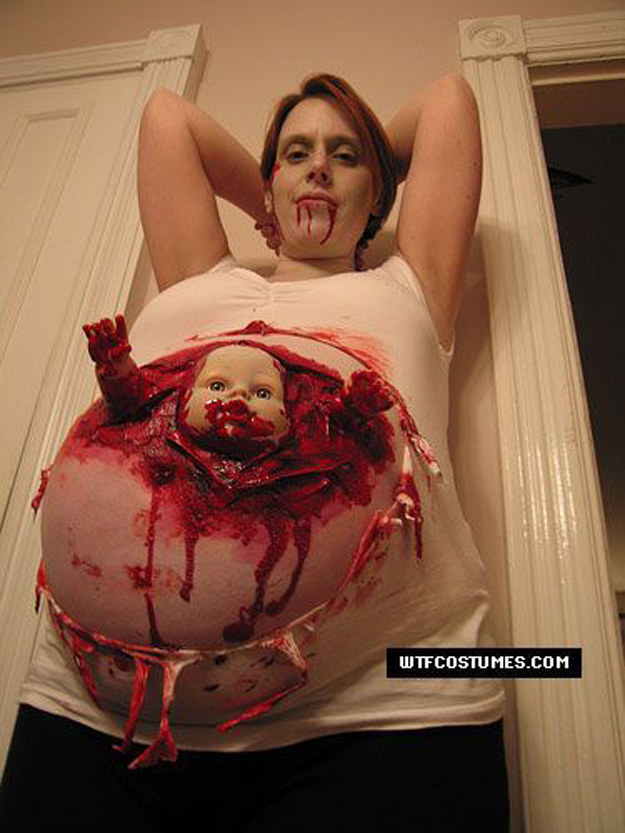 And this mom who wasn't afraid to go for the gore.