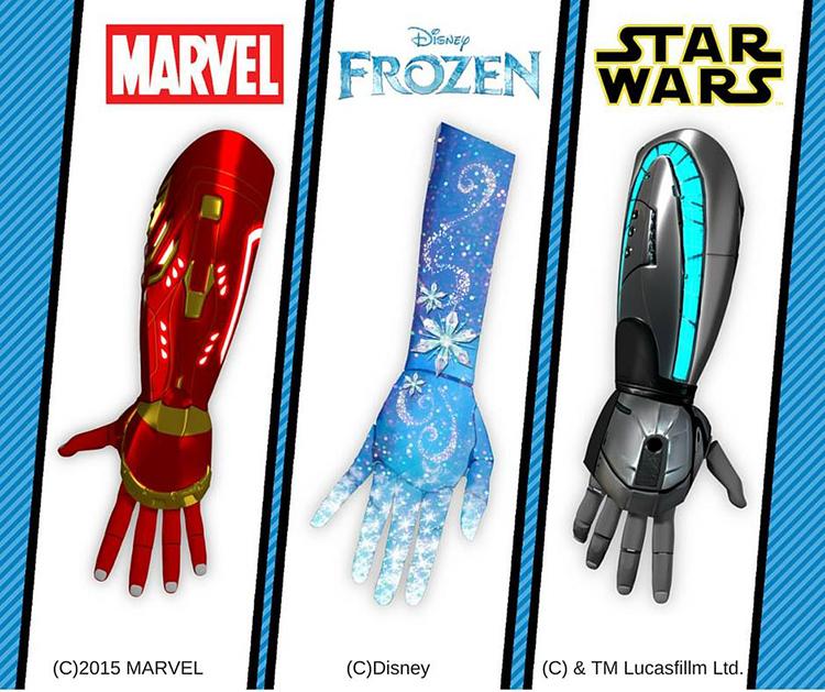 為了滿足身障孩童的夢想和建立自信,這間公司推出了一系列超酷的「迪士尼義肢手臂」!