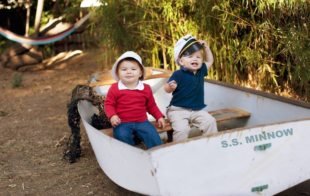 She also teamed up with her best bud, Cooper, to become Gilligan and the Skipper from Gilligan's Island…