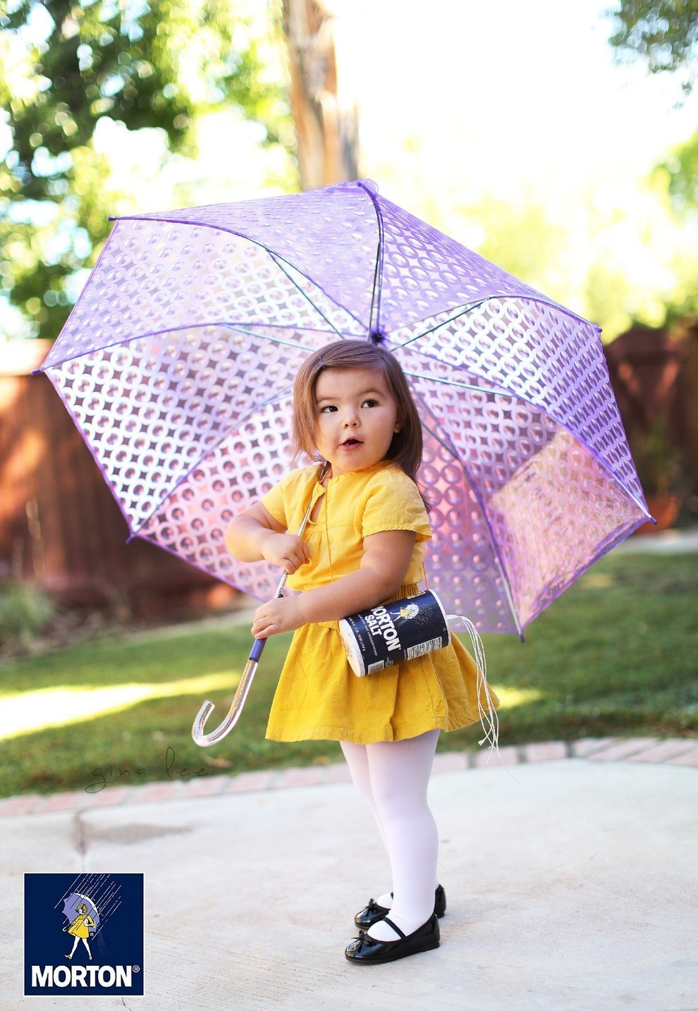 As incredible as those costumes were, Willow somehow topped them last year. She became the Morton Salt Girl...