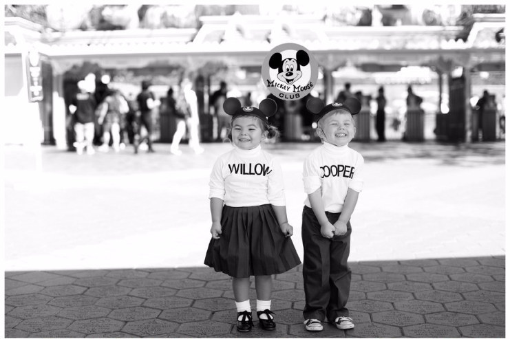 She and Cooper went back in time to become original Mouseketeers...
