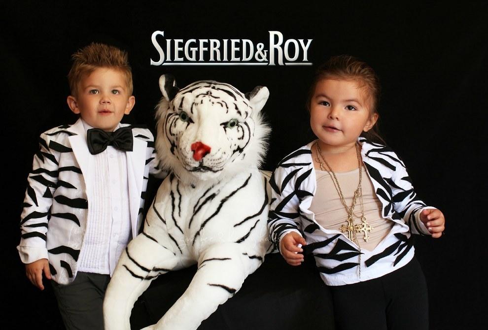 They went Vegas as Siegfried & Roy...