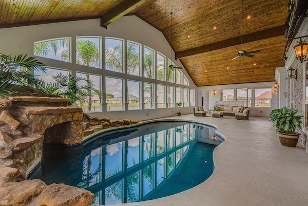 And when you make it past the lagoon-style indoor pool, you'll run right into the secret room...