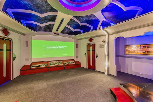 It even includes pneumatic doors and a 100-plus-inch screen beneath a fake sky filled with fake stars.