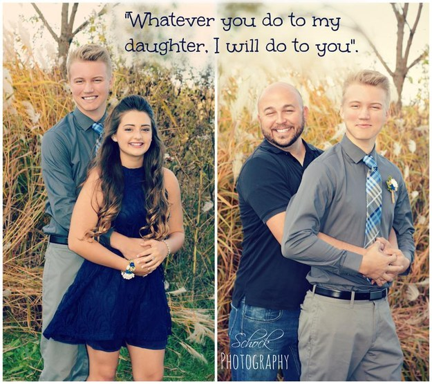 他雖不是地表最強老爸,但他在女兒跟男友約會前拍的「搞笑警告照片」已經讓網友全都瘋狂分享了。