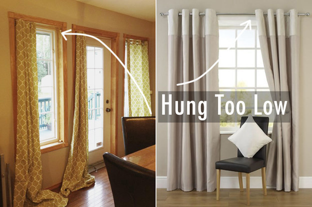 Hang your curtains higher.