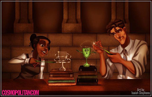 他們讓迪士尼角色全部進到哈利波特世界!小美人魚的「疾疾,護法現身」咒語也太可愛了吧!
